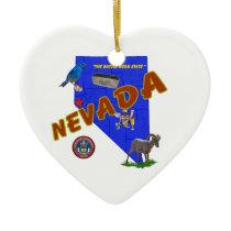 Nevada Ceramic Ornament