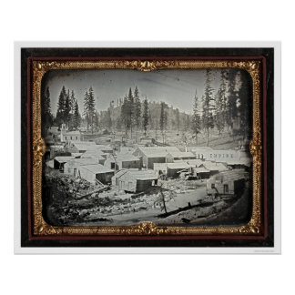 Nevada City, 1852 by Joseph Blaney Starkweather Poster