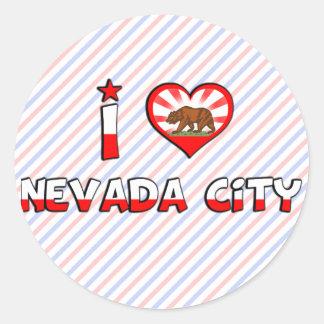 Nevada City, CA Classic Round Sticker