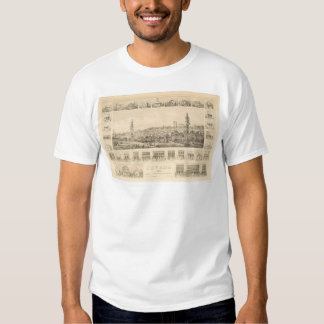 Nevada City, CA. Panoramic Map 1856 (1184A) T Shirts