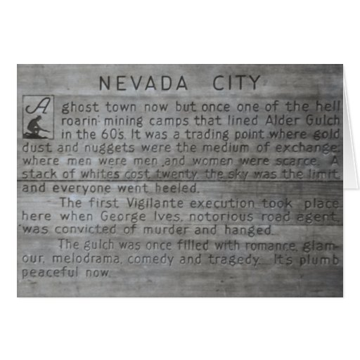 Nevada City Ghost Town Greeting Card