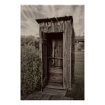 Nevada City Ghost Town Outhouse - Montana Poster