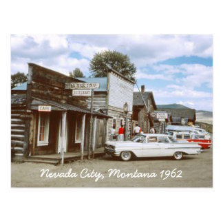 Nevada City Montana Postcard