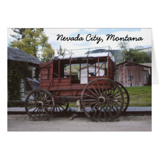 Nevada City Montana Stagecoach Greeting Card