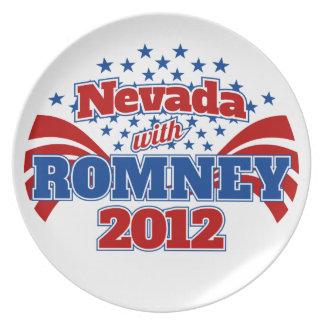 Nevada con Romney 2012 Platos Para Fiestas