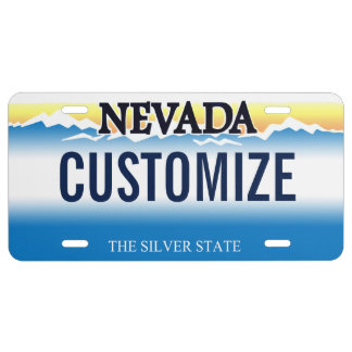 Nevada Custom License Plate