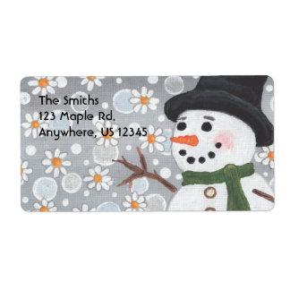 Nevada del muñeco de nieve, Smiths123 el arce Rd.A Etiqueta De Envío