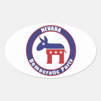 Nevada Democratic Party Oval Sticker