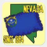 Nevada, desde 1864 pegatina cuadradas personalizada