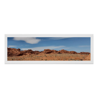 Nevada Desert Skyline Panoramic Poster