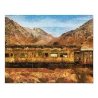 Nevada - Desert Train 4.25x5.5 Paper Invitation Card