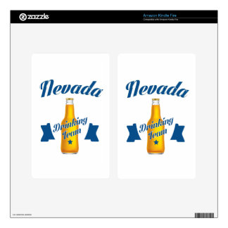 Nevada Drinking team Decal For Kindle Fire