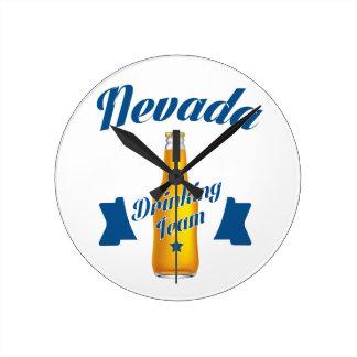 Nevada Drinking team Round Clock