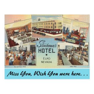 Nevada, el hotel de los ganaderos, Elko Tarjeta Postal