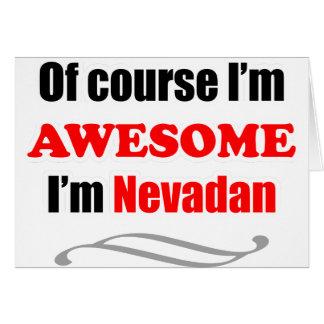 Nevada es impresionante tarjeta de felicitación