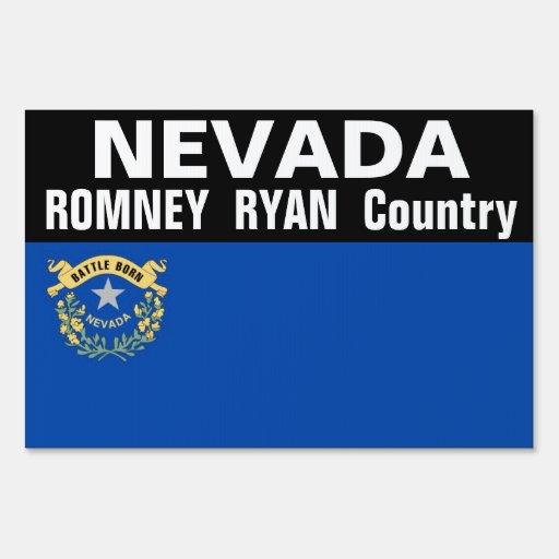 NEVADA es muestra del país de Romney Ryan Letrero