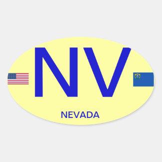 Nevada* Euro-style Oval Sticker Nevada Etiqueta