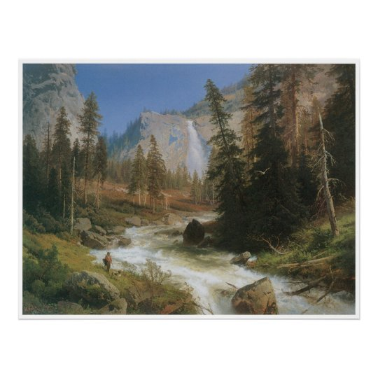 Nevada Fall, Yosemite, 1875 Poster