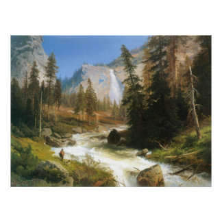 Nevada Fall, Yosemite, by Hermann Herzog Poster