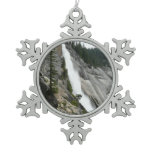 Nevada Falls at Yosemite National Park Snowflake Pewter Christmas Ornament