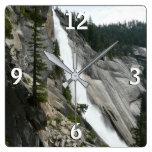 Nevada Falls at Yosemite National Park Square Wall Clock