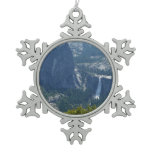 Nevada Falls from Panorama Trail Snowflake Pewter Christmas Ornament