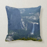 Nevada Falls from the Panorama Trail Yosemite Throw Pillow