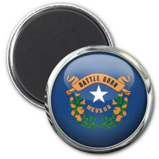 Nevada Flag Glass Ball Magnet