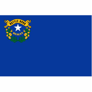 Nevada Flag Magnet Cut Out