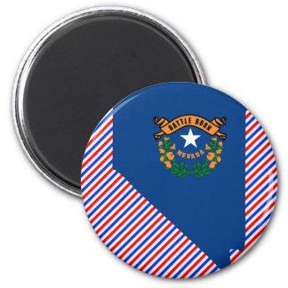 Nevada Flag Map 2 Inch Round Magnet