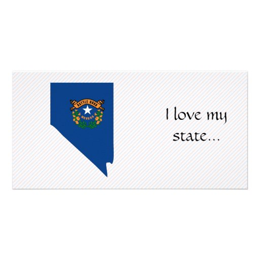 Nevada Flag Map Photo Card