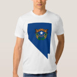 Nevada Flag Map T-shirt