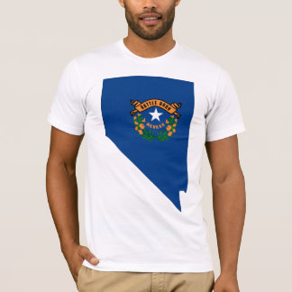 Nevada Flag Map T-Shirt