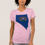 Nevada Flag Map Tee Shirt
