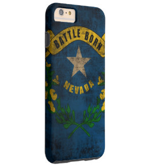 Nevada Flag Vintage Grunge Tough iPhone 6 Plus Case