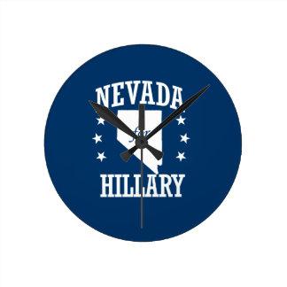 NEVADA FOR HILLARY ROUND WALLCLOCKS