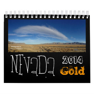 Nevada Gold Desert Calendar