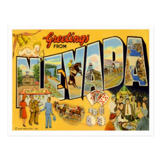 Nevada Greetings from States Postcard