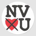 Nevada Hates You Classic Round Sticker