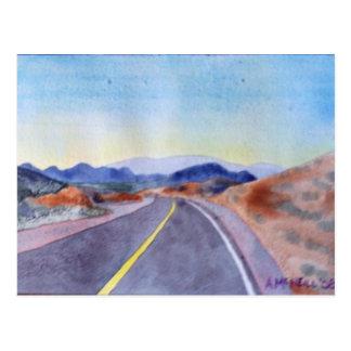 Nevada Highway Postcard