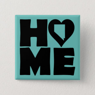 Nevada Home Heart State Button Badge Pin