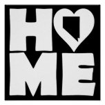 Nevada Home Heart State Poster Sign