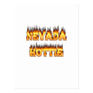 Nevada hottie fire and flames postcard