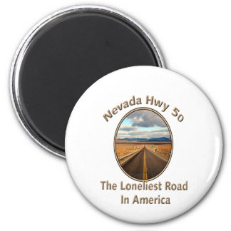 Nevada Hwy 50 2 Inch Round Magnet