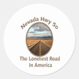 Nevada Hwy 50 Classic Round Sticker