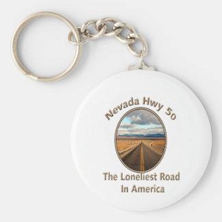 Nevada Hwy 50 Keychain