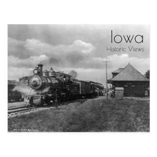 Nevada, Iowa Train Station Postcard