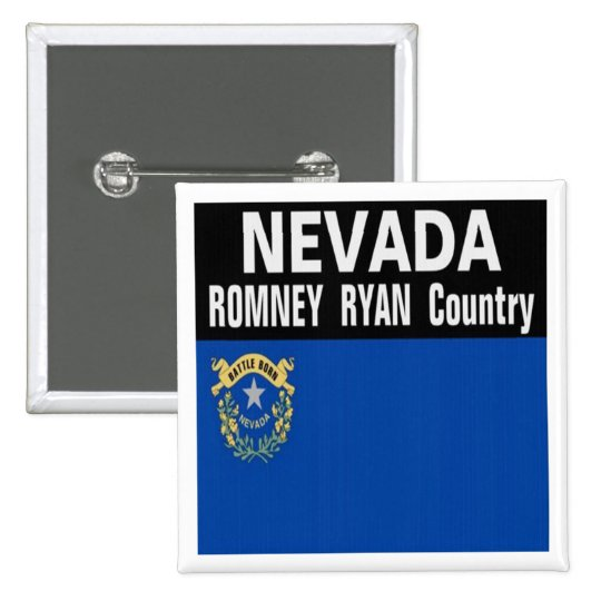 NEVADA is Romney Ryan Country Button