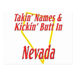 Nevada - Kickin' Butt Postcard