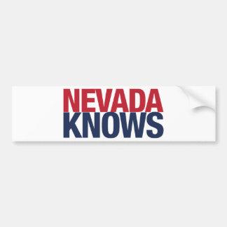 Nevada Knows Bumper Sticker